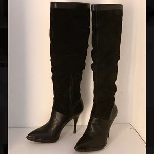 Nine West Knee High suede & leather boots